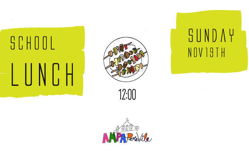 School Lunch: join us this Sunday!