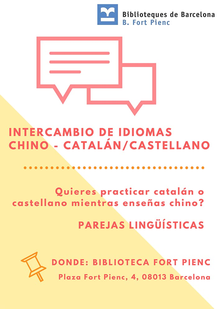 Intercambio chino castellano español
