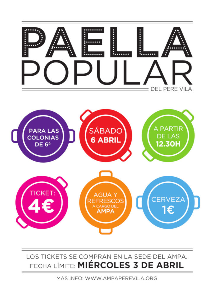 Paella popular, colonias de 6º